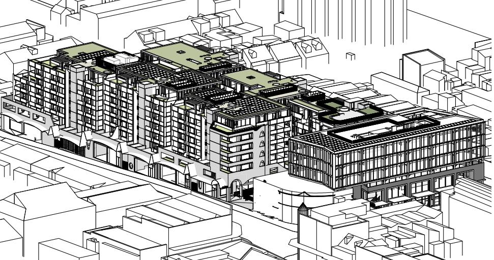 Illustration of proposal for Toga development