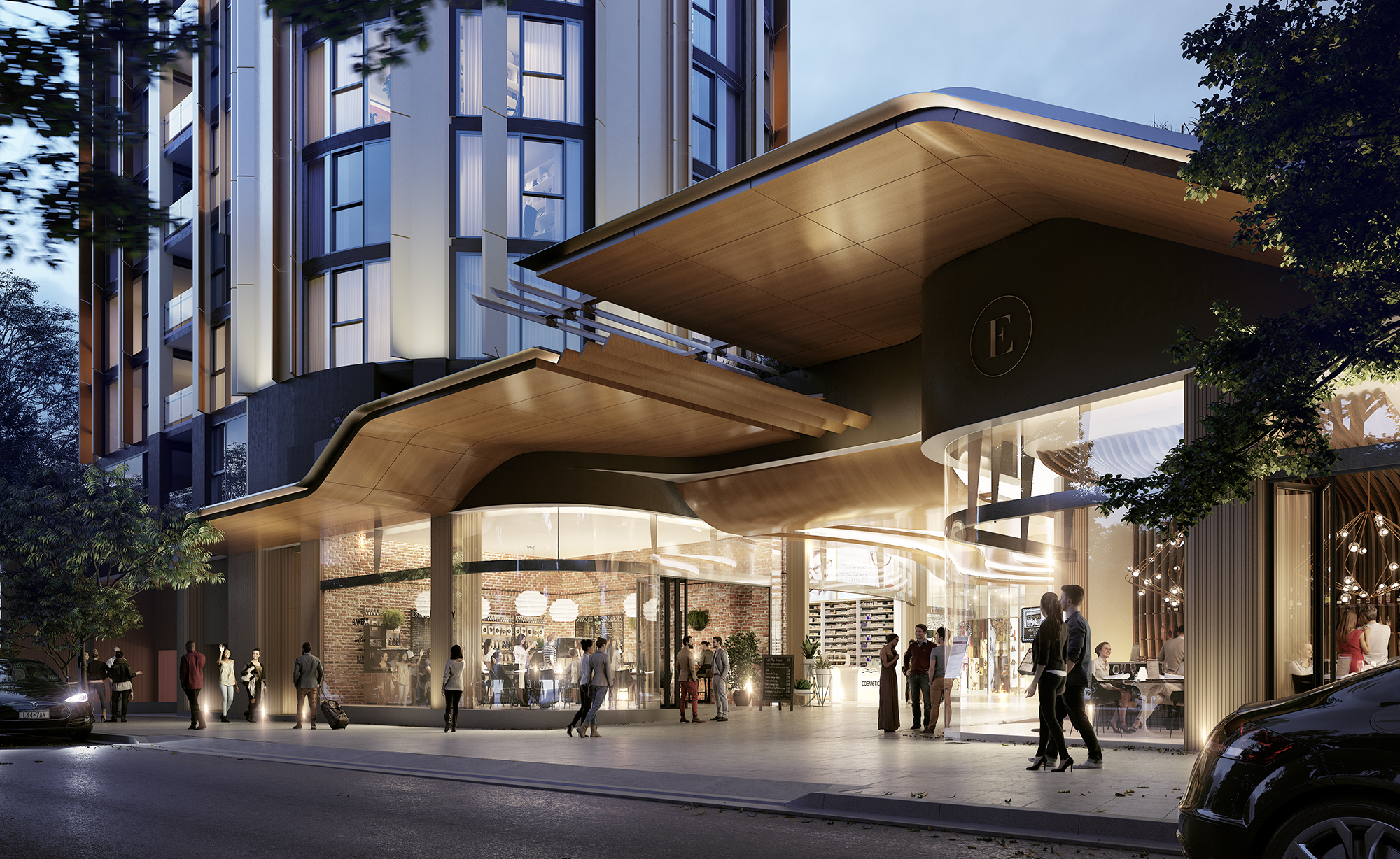 """A Binyan rendering of Crown Group's $1 billion """"Eastlakes"""" town centre development, a 534-apartment development in Sydney's eastern suburbs."""