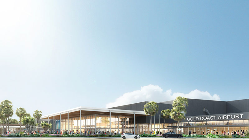 ▲ The redevelopment will double the footprint of the existing terminal, delivering aerobridges, additional retail space and new departure lounge, baggage handling and border control facilities. Image: Supplied