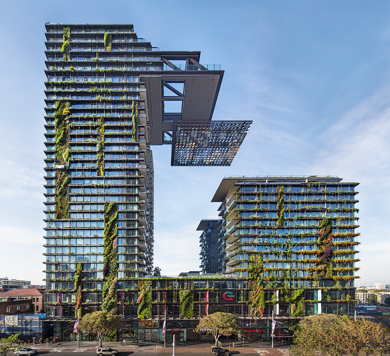 "One Central Park, Sydney by Ateliers Jean Nouvel won ""Best Tall Building Worldwide"" in 2014."