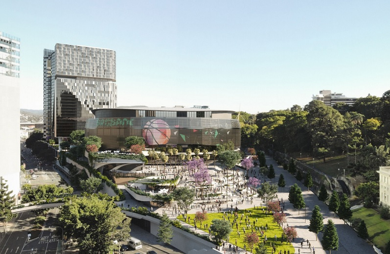 ▲ The latest renders for the Brisbane Live stadium by Cross River Rail Delivery Authority & Archipelago/Woods Bagot.