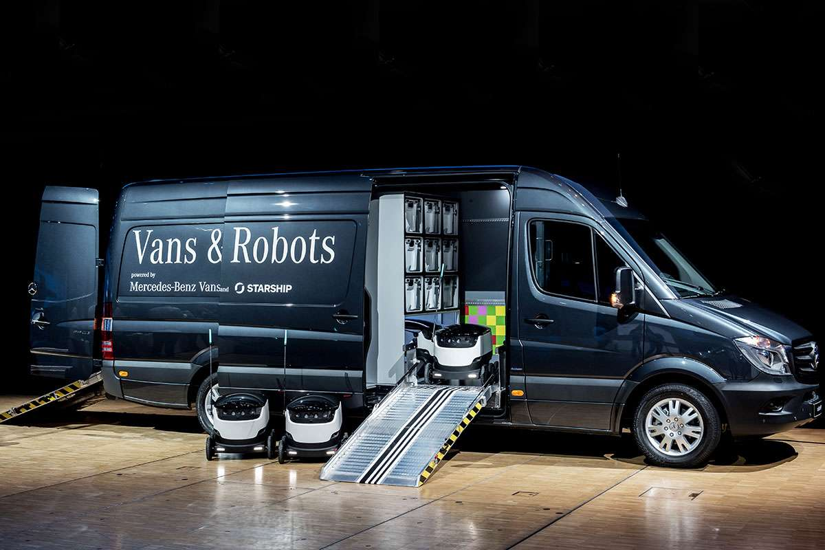 Robovan Starship Technologies and Mercedes-Benz Vans