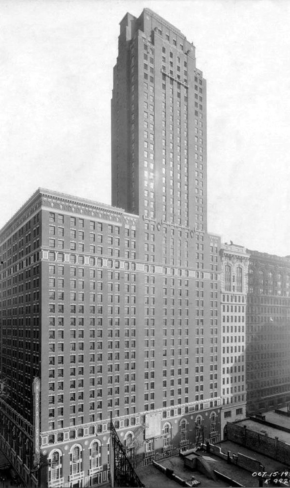 The 45-storey Morrison Hotel was completed in 1925.