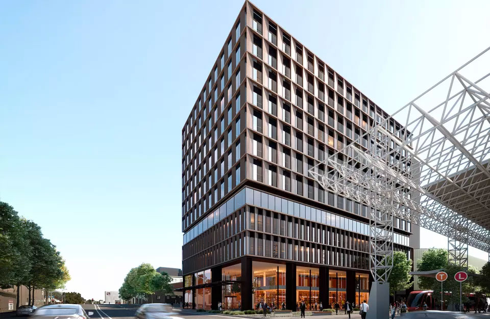Late last year, plans were lodged with the Newcastle City Council for Newcastle's largest stand-alone office building.