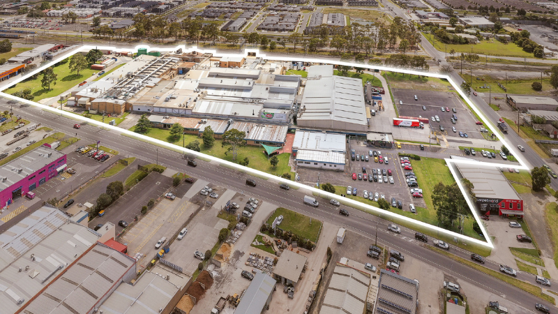 ▲ Patties Foods is selling the world's biggest pie factory, and another factory at Pakenham (pictured). Image: JLL