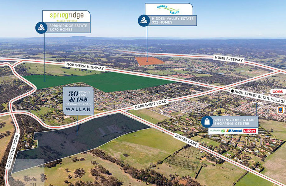 ▲ A developer paid $22.5 million for more than 30 hectares of land in Wallan South earlier this year.