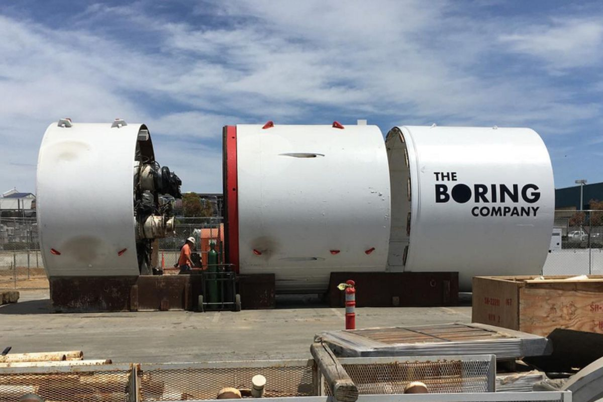 Elon Musk is going to sell bricks made of rock from The Boring Company dig. Elon Musk launched the tunnelling venture The Boring Company to dig under Los Angeles and provide an alternative to traffic congestion.