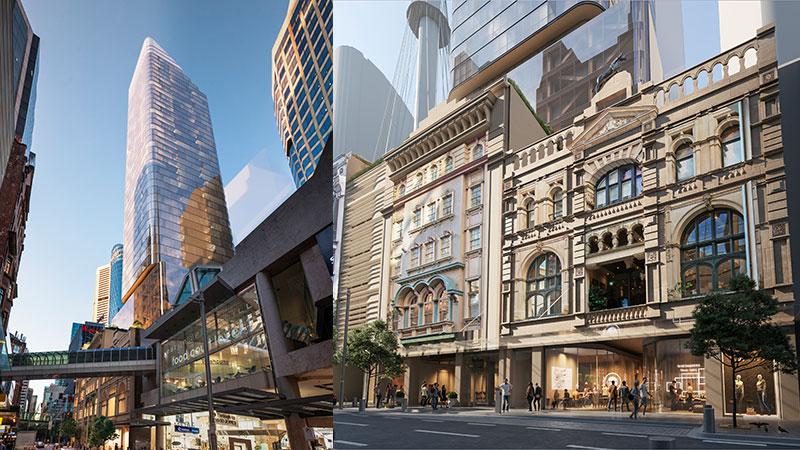 Plans for the City Tattersalls Club redevelopment in Sydney
