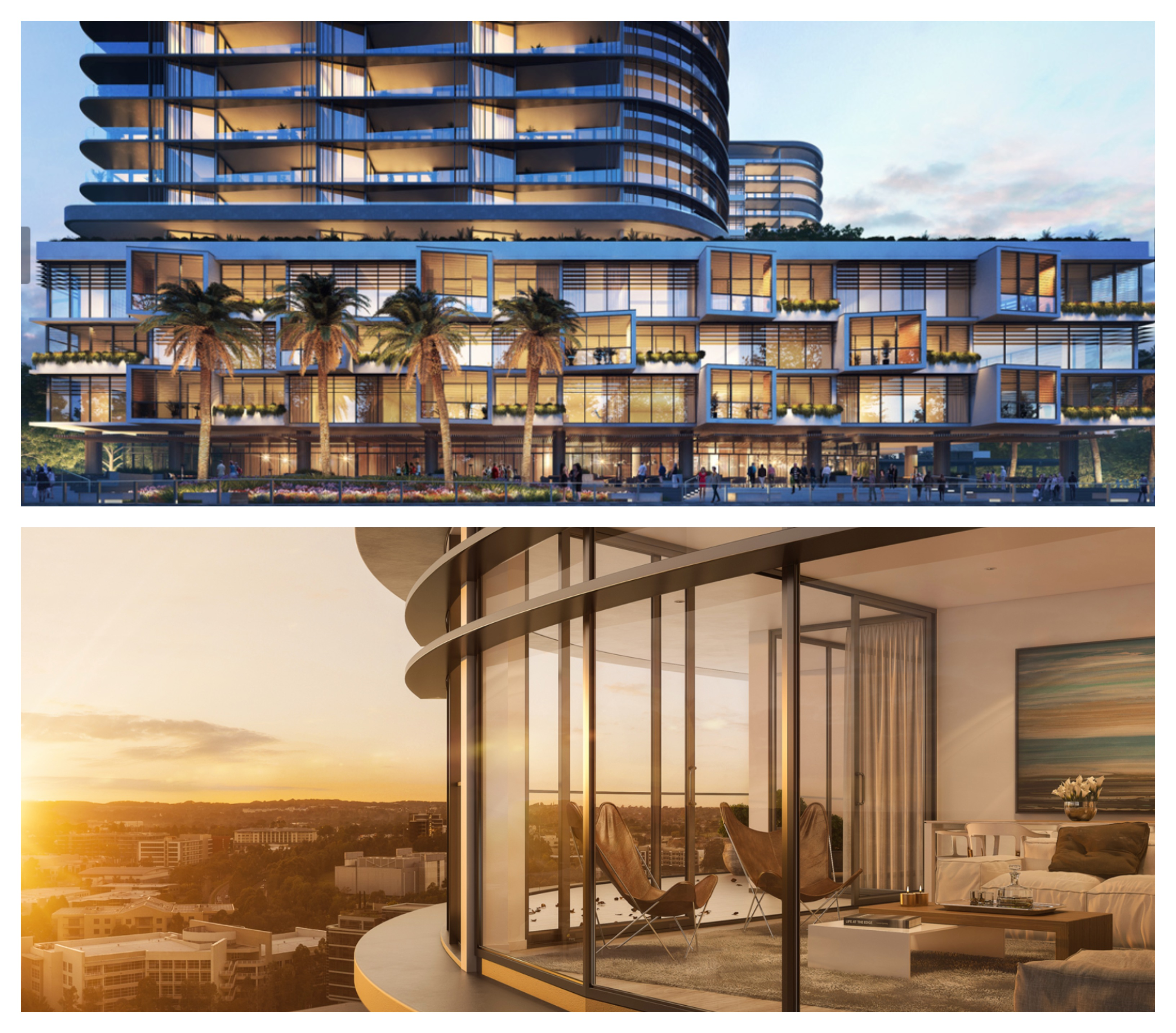 The 252-apartment, retail, and commercial Esplanade Norwest in Baulkham Hills.