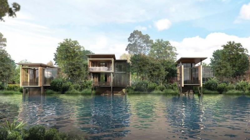 ▲ Ridong's plans for villas and a private lake at Gold Coast resort.
