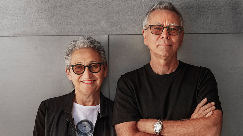 ▲ Hank Koning and Julie Eizenberg of Koning Eizenberg Architecture. Image: Supplied