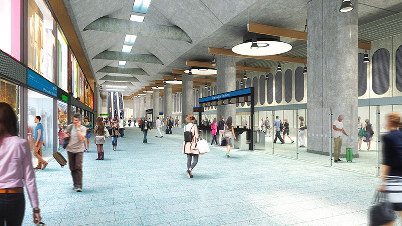 Melbourne Metro Tunnel - Parkville Station