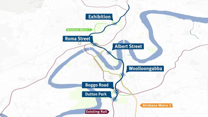 Cross River Rail map