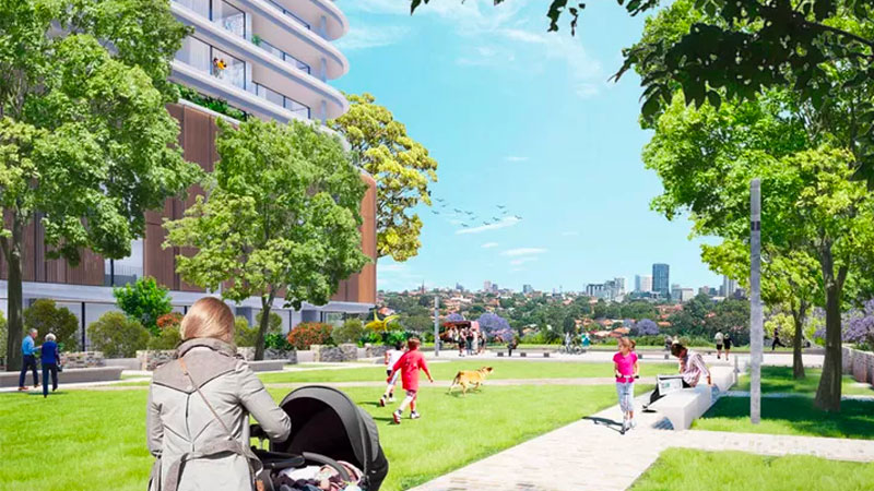 ▲ The masterplan comprises 460 apartments across nine buildings ranging up to 9-storeys and more than 6,000sq m of public space. Image: Chrofi