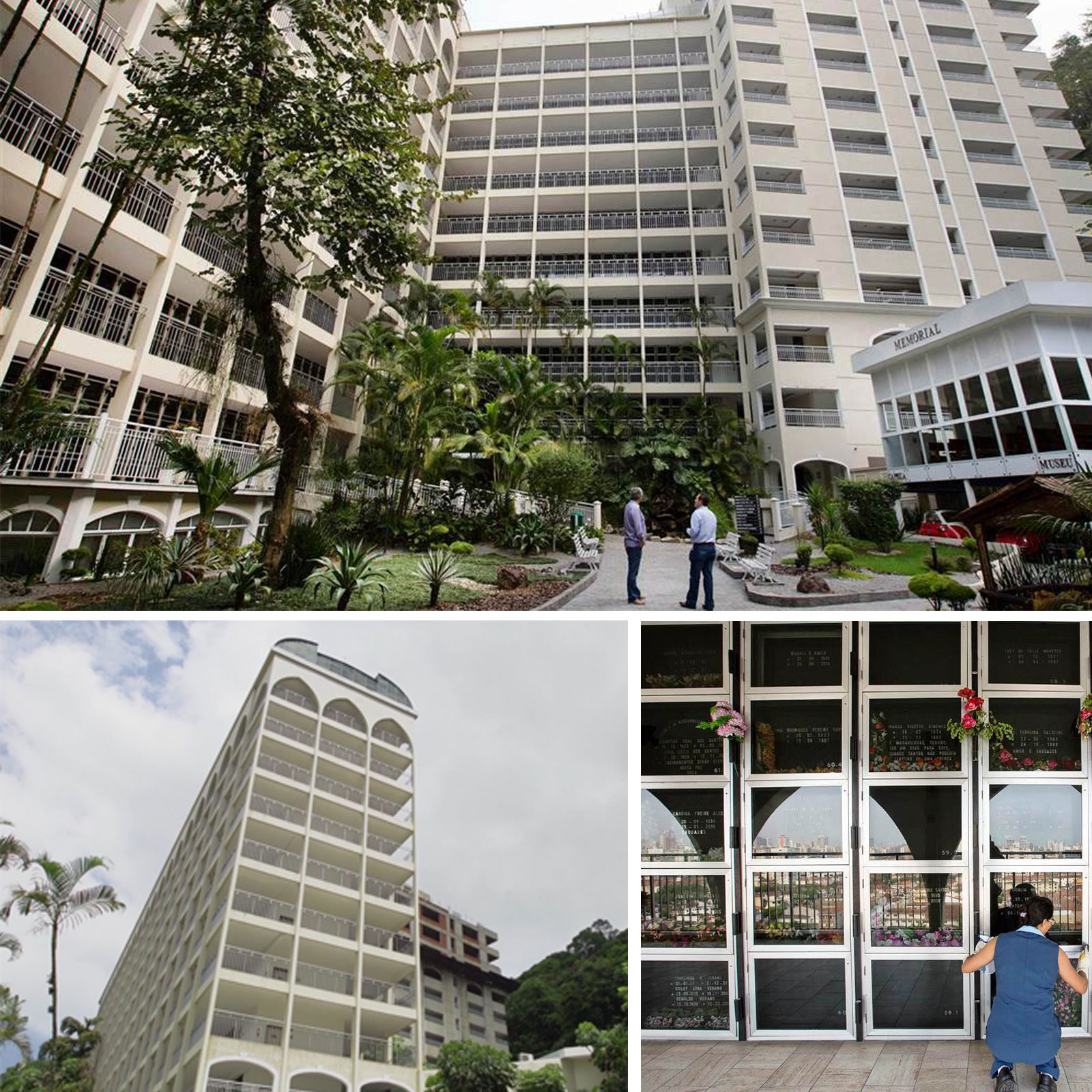 The Memorial Necrópole Ecumênica in Santos has the capacity to hold 14,000 burial spaces spread over 14 floors with plans to create another 25,00 niches underway.