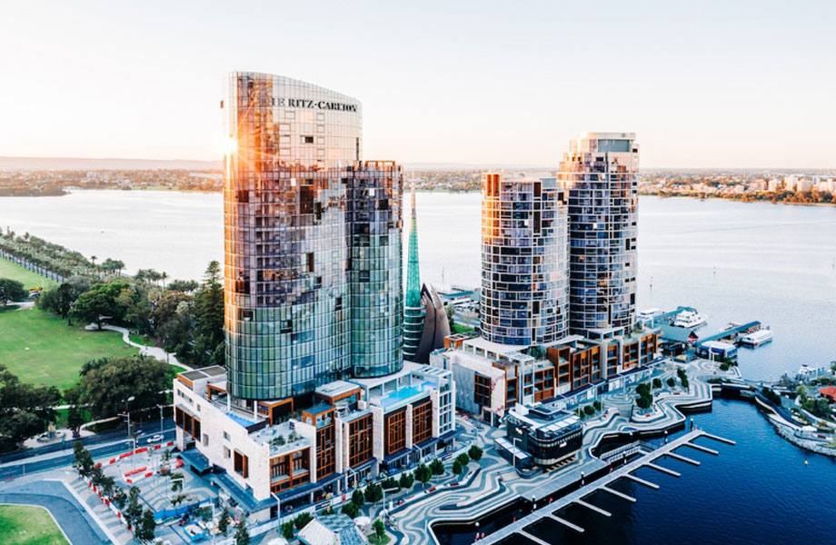 ▲The Cottee Parker-designed The Towers and Ritz-Carlton at Elizabeth Quay.