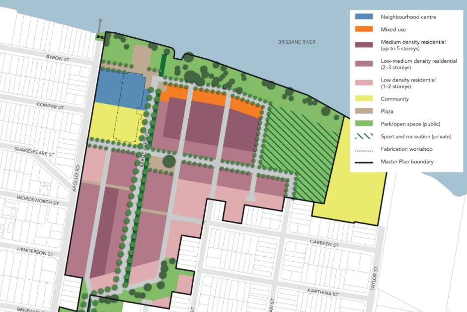 Draft Master Plan for Bulimba Barracks area