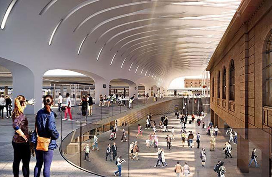 ▲ A rendering of Dexus and Frasers proposal for the Henry Deane Plaza at Sydney's Central Station.