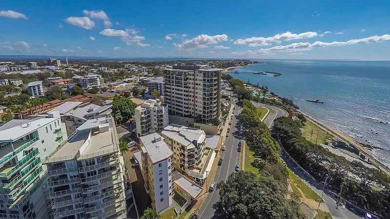 ▲ Hobart values grew by 0.7 per cent while Adelaide's central and west districts, as well as Brisbane's north, east and west, all had rises of between 1 and 2 per cent. Image: Redcliffe, Brisbane
