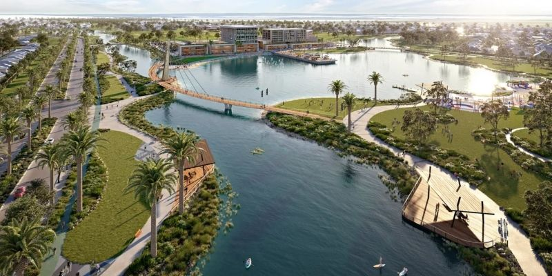 ▲ Walker Corp says the Riverlea project will include 50 hectares of lakes and 420 hectares of open space.