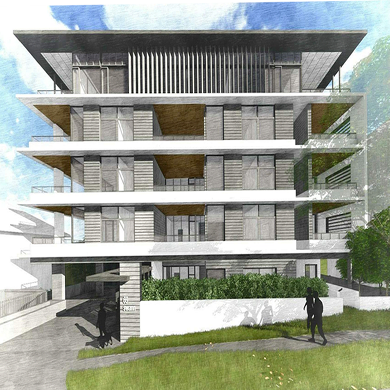 Visualisation of front facade for 69 Swann Road, Taringa