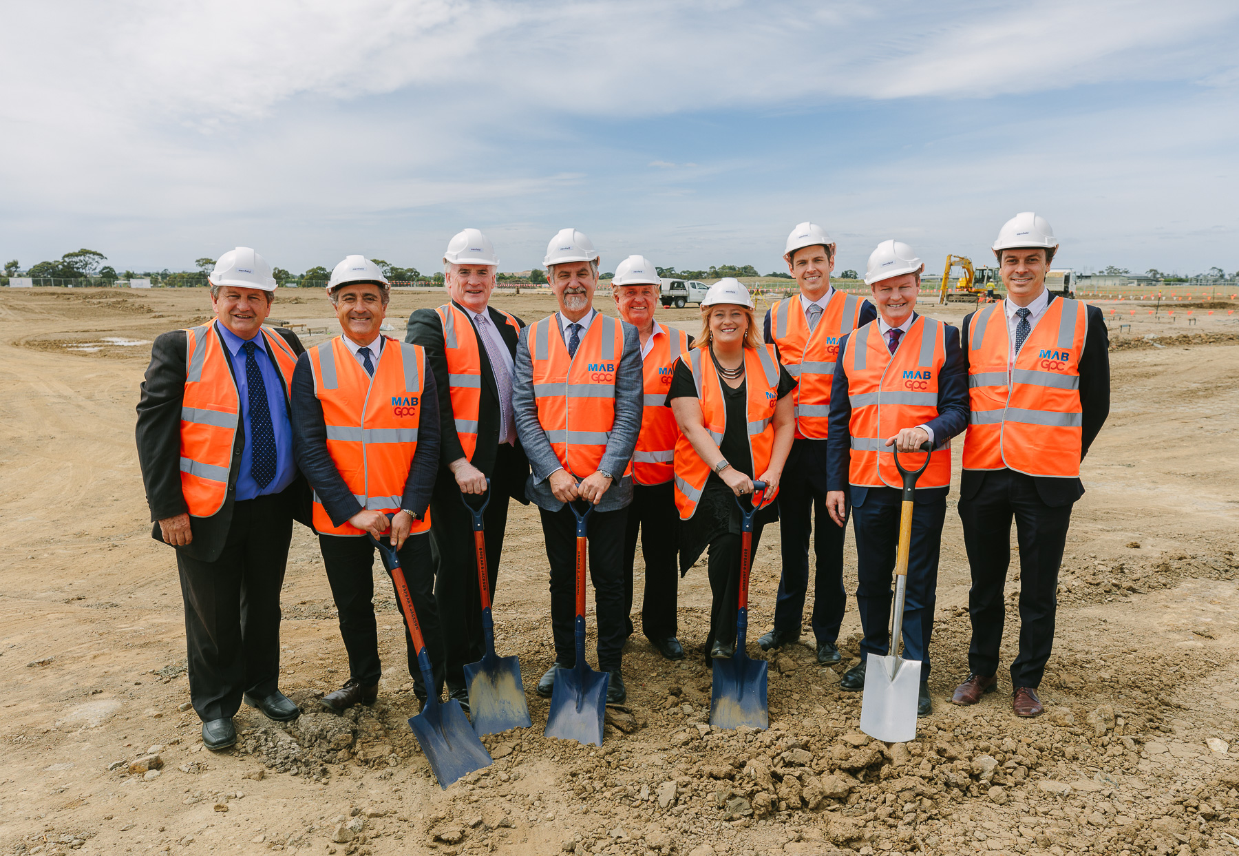 The project's launch event was held on 15 February which included a sod turning conducted by MAB Corporation and Gibson Property Corporation.
