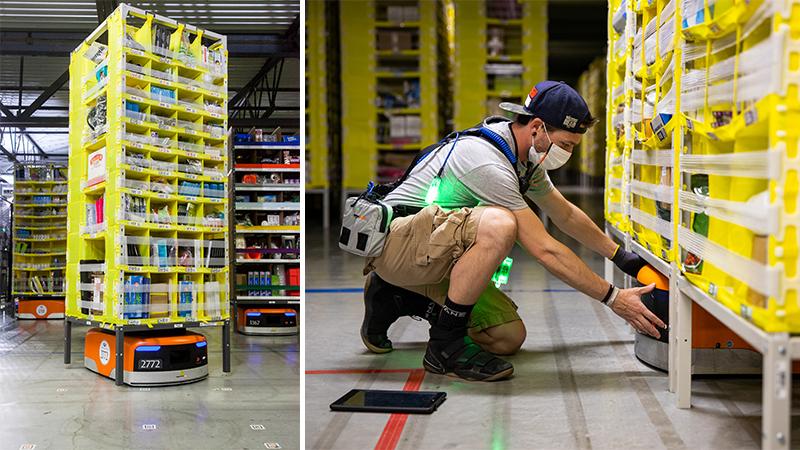 ▲ Amazon's Kiva robot.