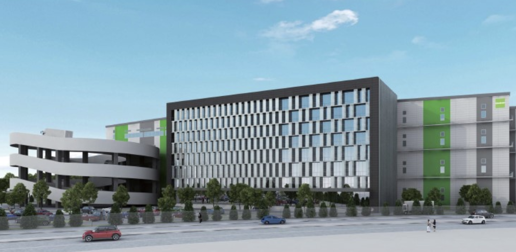 An artist impression of the 100,000sq m stage four logistics facility pre-leased by BMW.