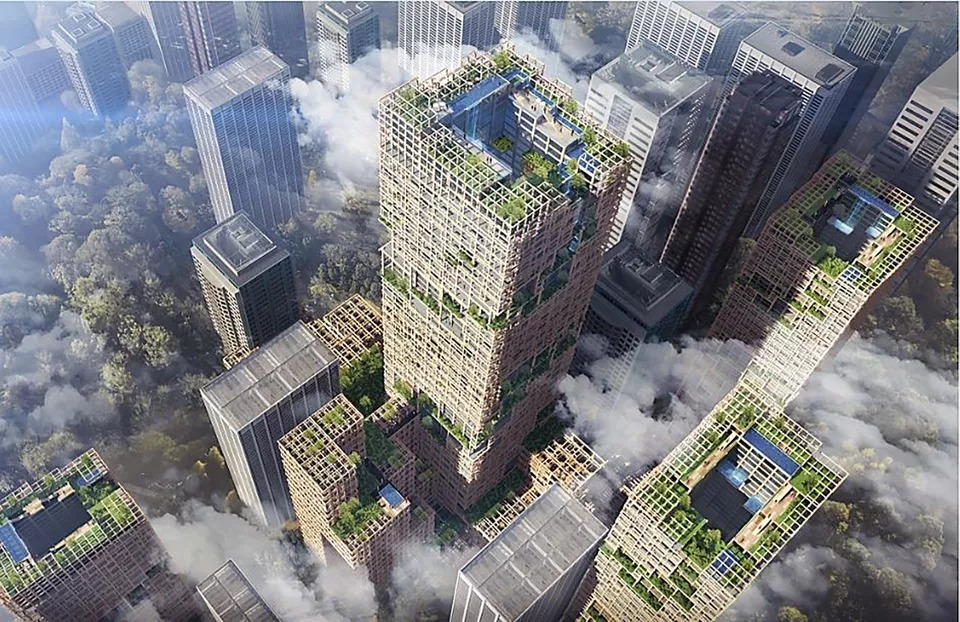 "Sumitomo Forestry announced plans earlier this year to build a 70-storey timber tower, called ""W350"", which will quadruple the size of the world's current tallest timber building."
