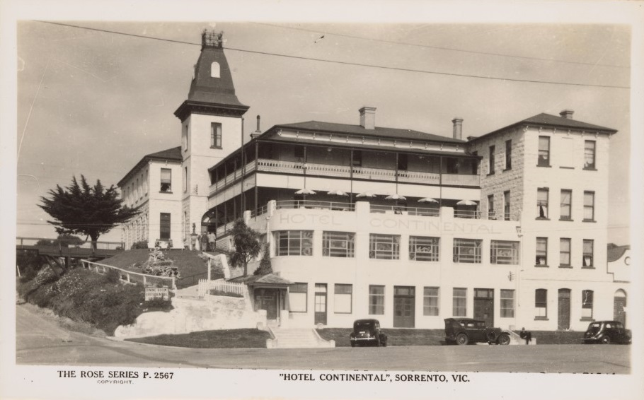 The Hotel was built in 1875. Constructed from limestone that was sourced locally from the area. Photo circa 1920.
