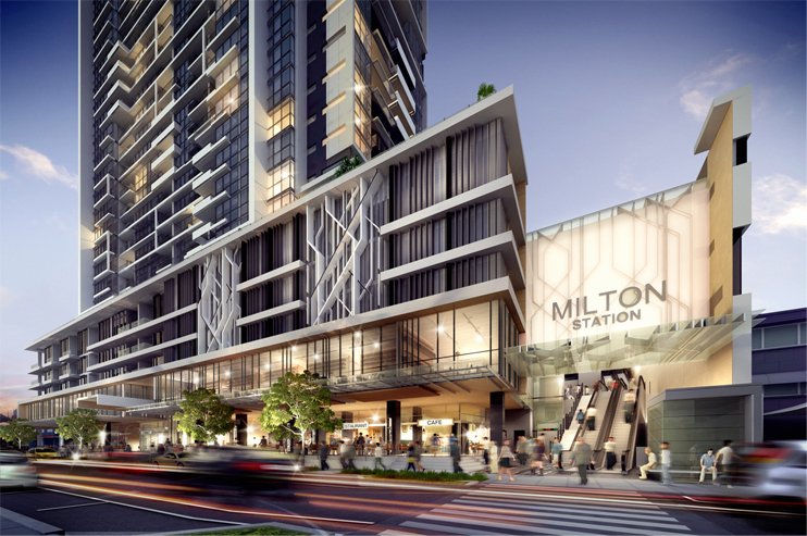"Tian An developed ""The Milton"" a 30-storey apartment block in Brisbane's inner west."