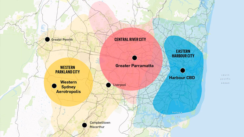 ▲ A plan to reshape the Sydney region aims to capitalise on its rapid growth by breaking the pull of the harbour.