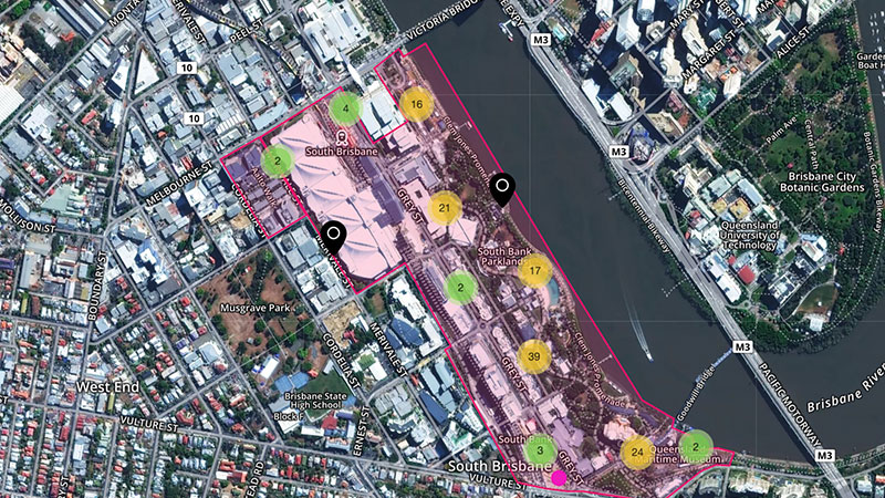 The online mapping tool open to the public for the master plan process.