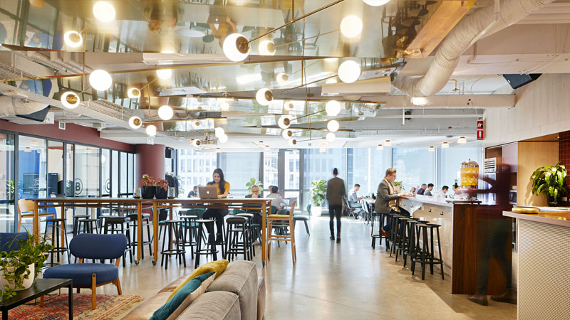 ▲ WeWork opened its Edward Street offering in Brisbane's CBD in March. Image: WeWork