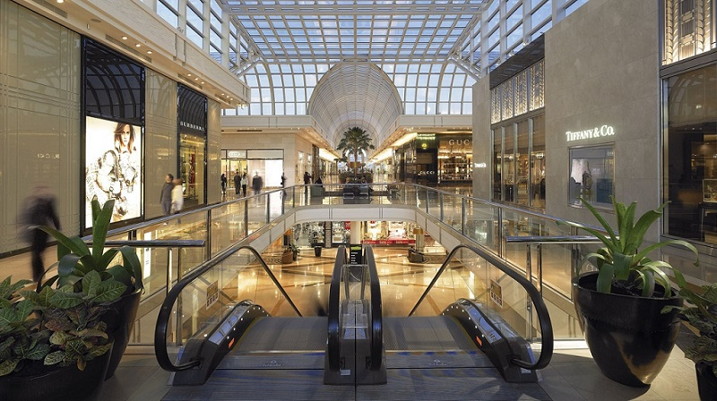 Escalators at Chadstone Shopping Centre in Melbourne