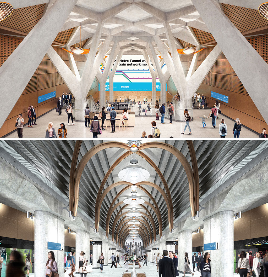 The new Town Hall Station will be located under Swanston Street, between Flinders Street and Collins Street.