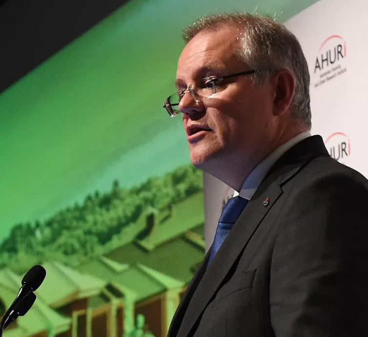 Scott Morrison made positive moves on finance for community housing providers as treasurer, but as prime minister his government has been less active on housing policy.