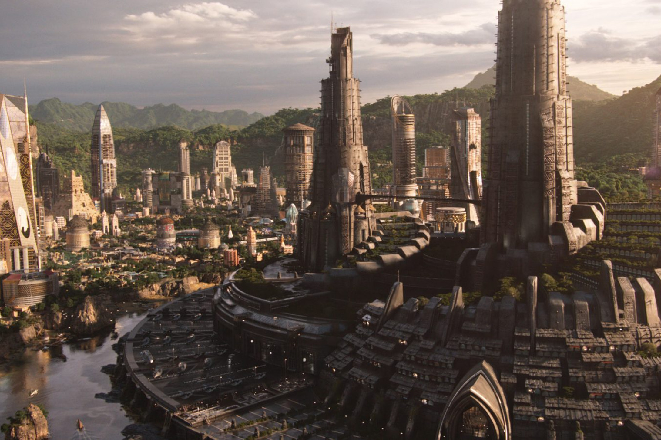 According to Black Panther's production designer Hannah Beachler, the architecture behind the city of Wakanda was inspired by the late Zaha Hadid.