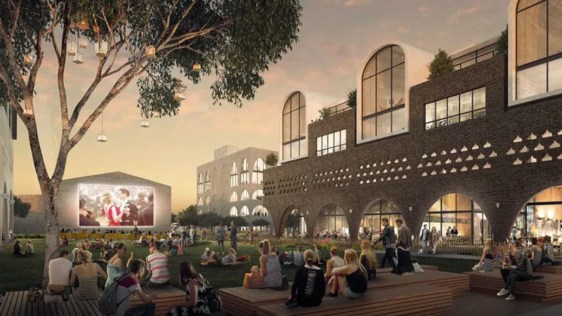 ▲ Danias will now build a new commercial and creative industries centre that would house almost 500 artists. Image: Turner and McGregor Coxall