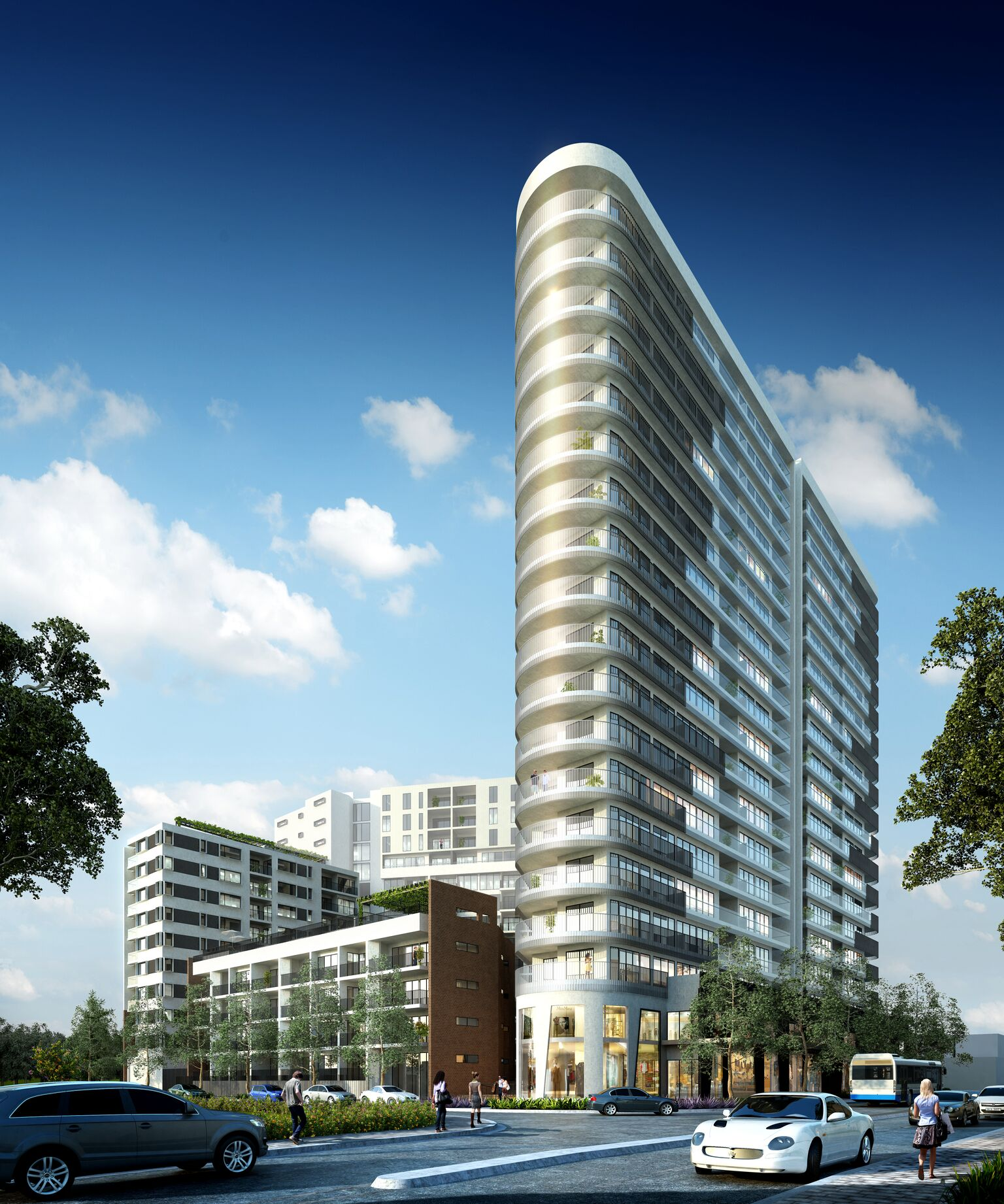 The highest building for the site will rise 20-storeys.