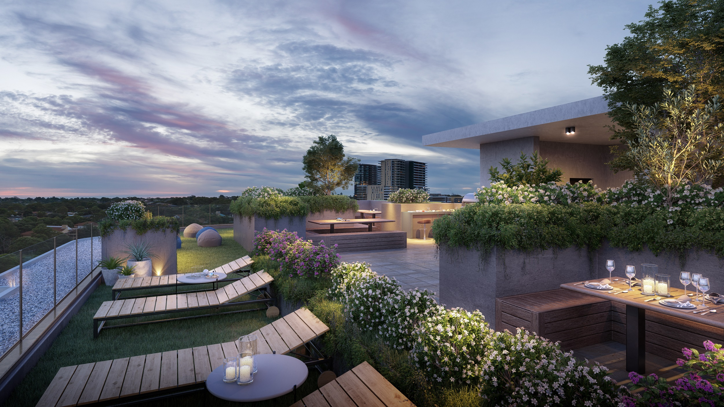 Sundale's plans include rooftop entertainment for the new Macquarie Park development, Platinum on Peach Tree.