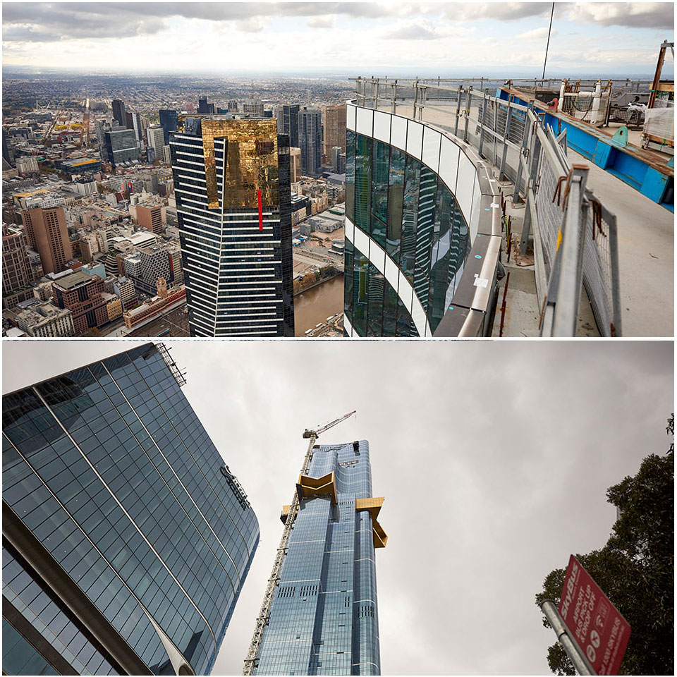 World Class Global's chief executive David Ng said the sky scaper pierces the clouds at level 91.  Australia 108 in Melbourne's Southbank