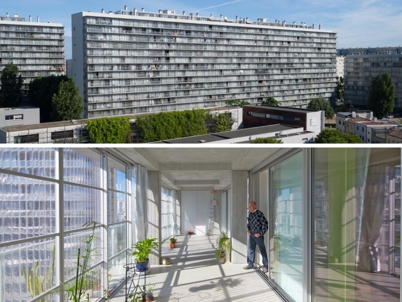 The new all-season balconies add space to  to 530 social housing units in Bordeaux