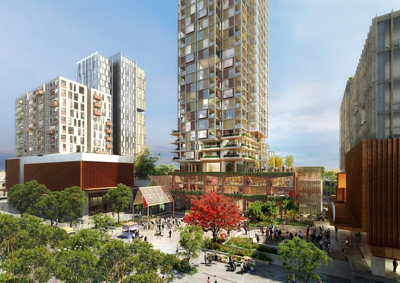 ▲ The Waterloo development has an anticipated end value of $800 million and is expected to be completed in six years.