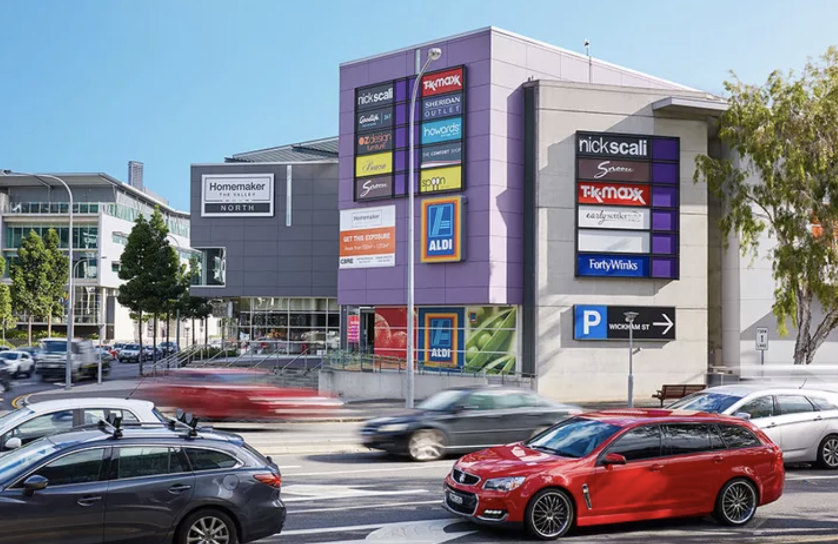 Homemaker The Valley in Brisbane was acquired for $170 million this month by the Karedis family's Arkadia Capital, on a yield of 7.31 per cent.