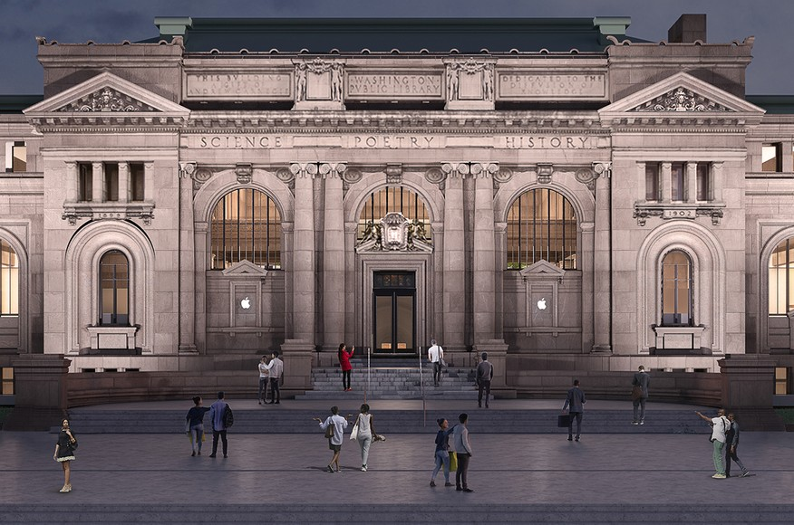 Apple's new store at the Carnegie Library in Washington DC.