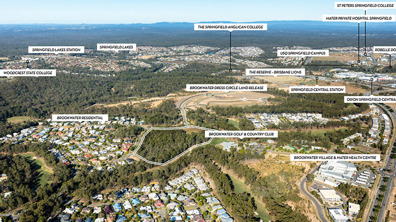 ▲ The 133-141 and 143-163 Brookwater Drive site