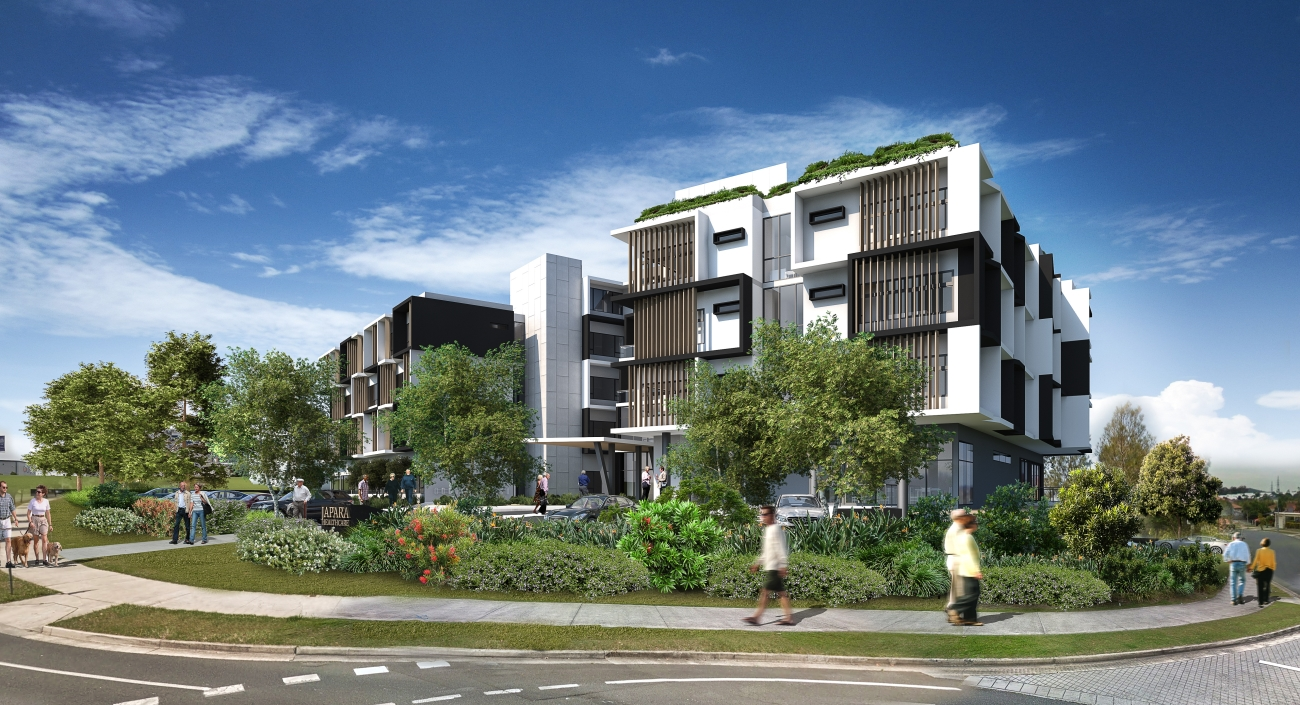 6-storey integrated RACF by Japara at Robina, Gold Coast, and construction complete by 2019.