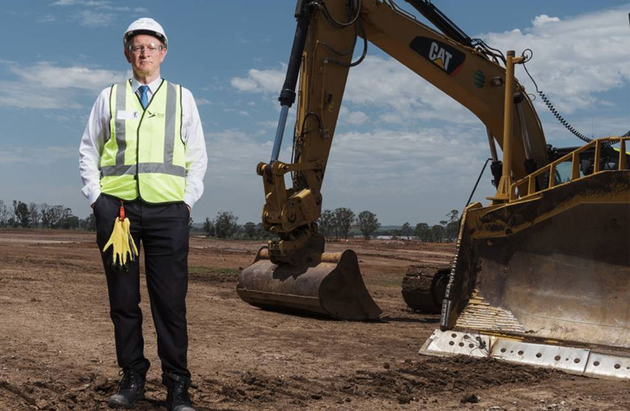 Western Sydney Airport CEO Graham Millett at the Western Sydney Airport Badgerys Creek site.