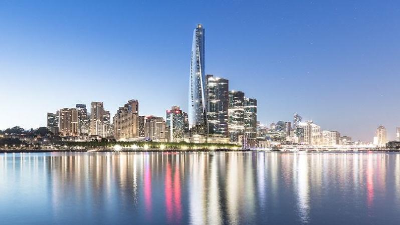 ▲ Crown Resorts Limited One Barangaroo development on Sydney harbour.
